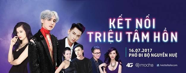 Viettel tổ chức Đại nhạc hội miễn phí với Sơn Tùng MTP, Đông Nhi, Isaac, Soobin Hoàng Sơn