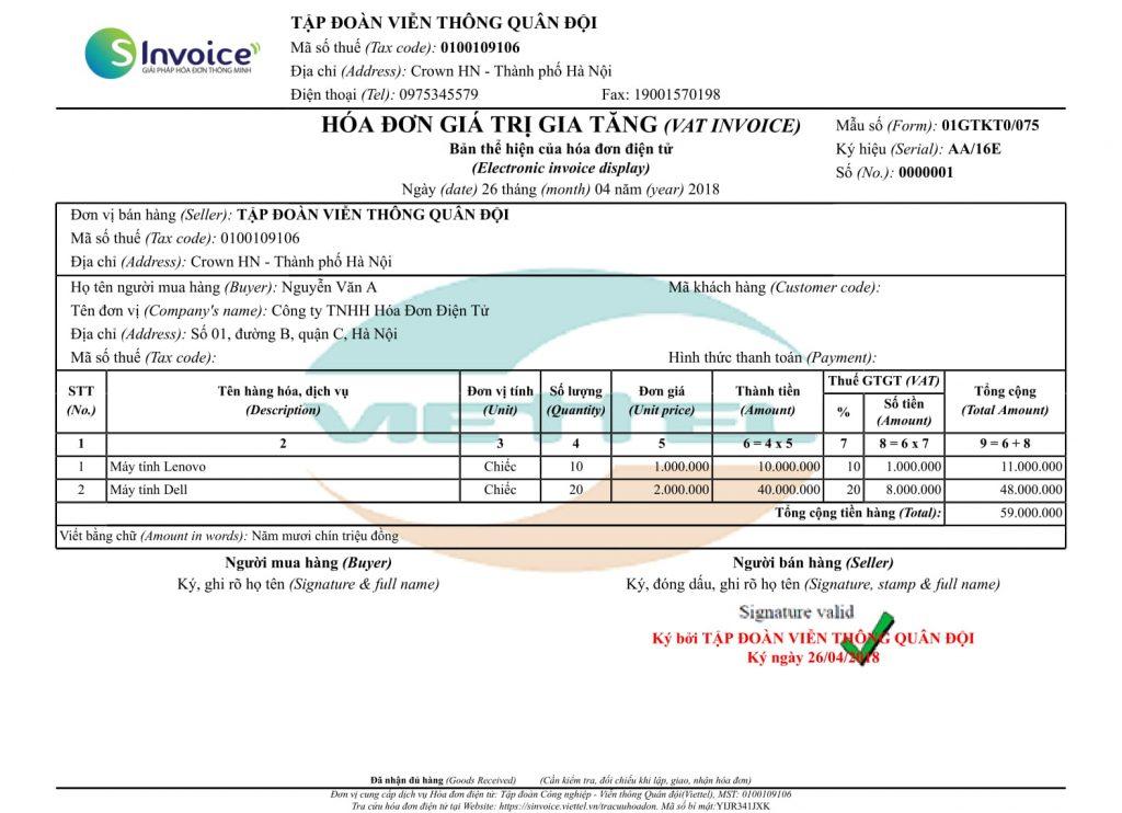 Bảng giá Hóa đơn điện tử Viettel TPHCM - Ưu đãi tháng 10/2019
